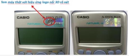 Phân biệt máy tính Casio fx 570vn plus thật giả