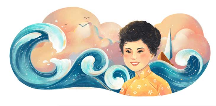 Google Doodle mừng kỷ niệm 77 năm ngày sinh nhà thơ Xuân Quỳnh