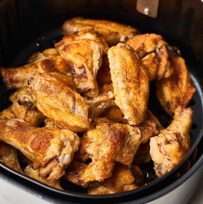 món ăn nồi chiên không dầu: cánh gà chiên
